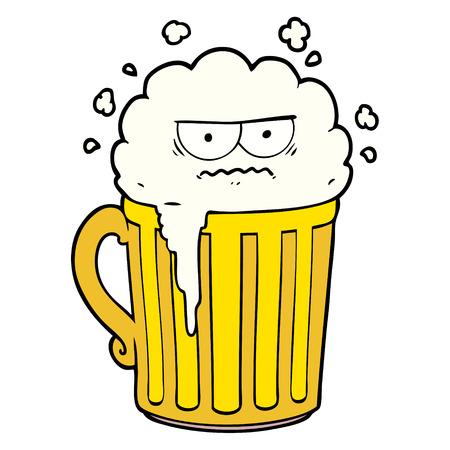 cartoon mug of beer Ilustrace