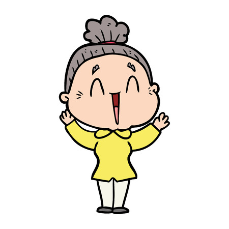 cartoon happy old lady Stock fotó - 95210227
