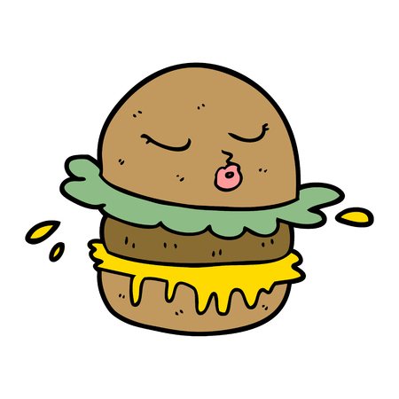 cartoon fast food burger Foto de archivo - 95226375
