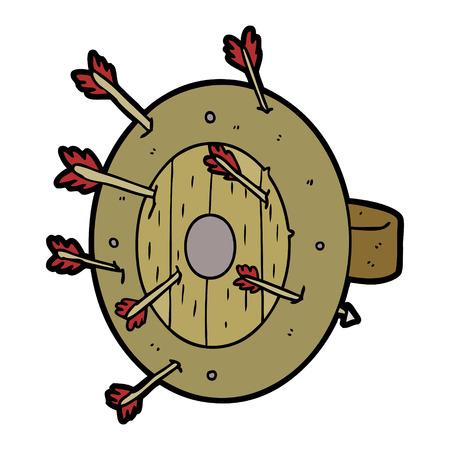 shield full of arrows Vector illustration.