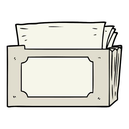 cartoon folder of files Vector illustration.