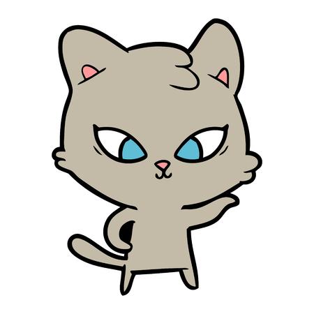 cute cartoon cat Stock Vector - 95286424