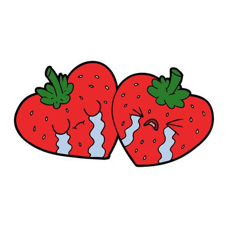 cartoon strawberries Иллюстрация