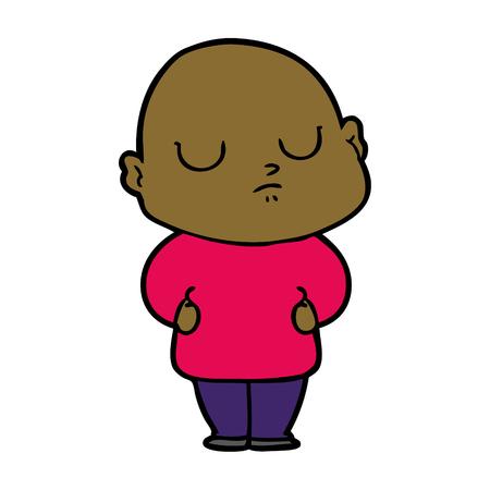 cartoon bald man Foto de archivo - 95286442