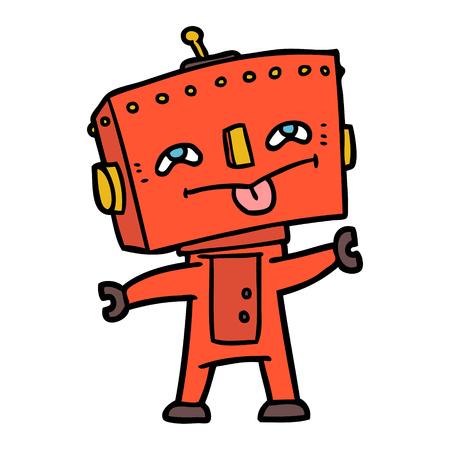 Robot naranja de dibujos animados Foto de archivo - 95286445