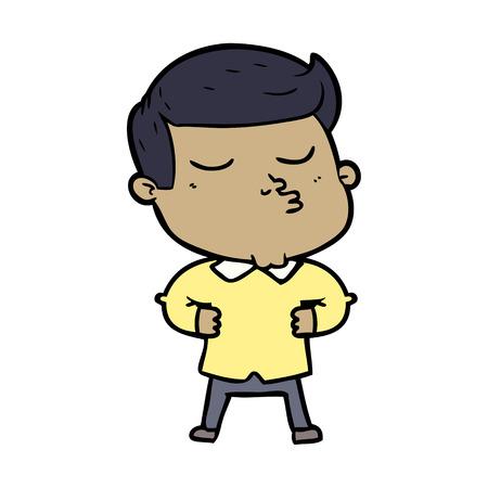 cartoon model guy pouting