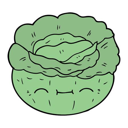 cartoon cabbage illustration