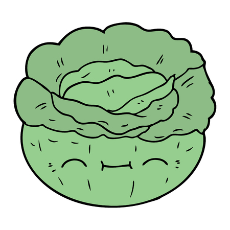 cartoon cabbage illustration