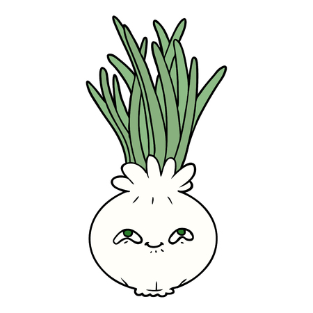 cartoon onion illustration