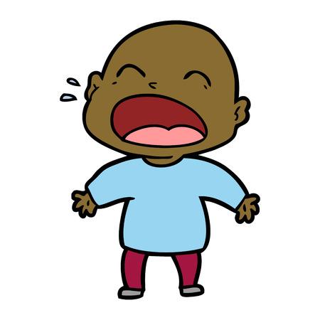 cartoon shouting bald man