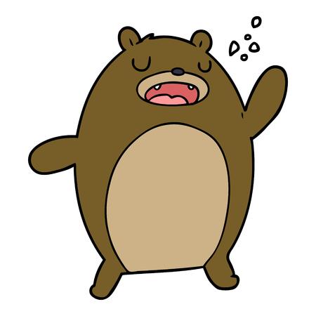 funny cartoon bear 向量圖像