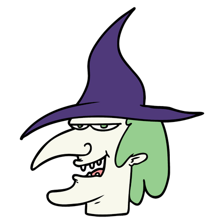 cartoon witch illustration Illustration