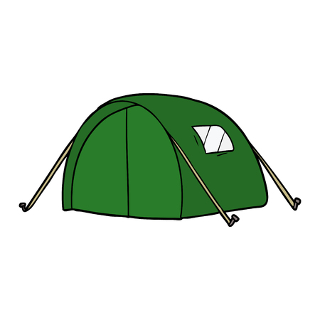 cartoon green tent illustration