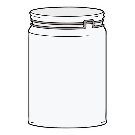 cartoon empty glass jar 向量圖像