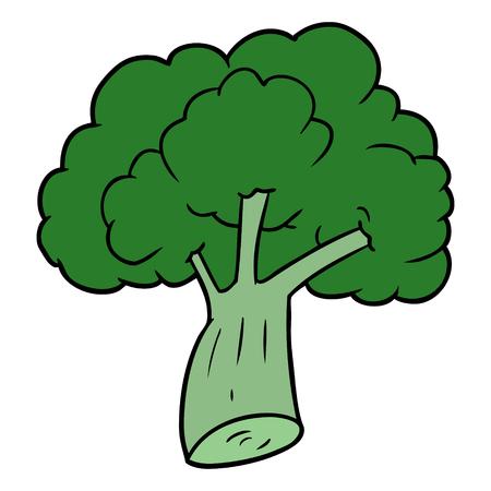cartoon broccoli illustration Vettoriali