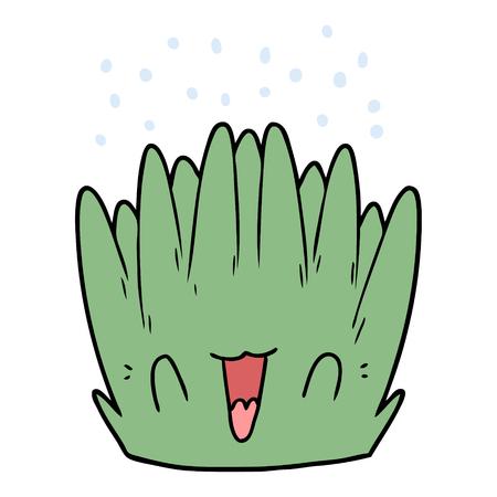 Cartoon sea plant illustration on white background.