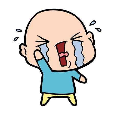 漫画はハゲ男を泣いて。