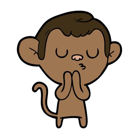 Cartoon monkey. Çizim
