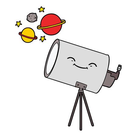 cartoon telescope with face