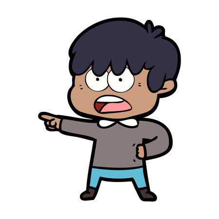 worried cartoon boy