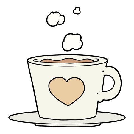a lovely cup of coffee Ilustração