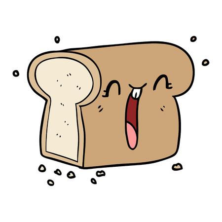 パンの漫画笑いのローフ  イラスト・ベクター素材