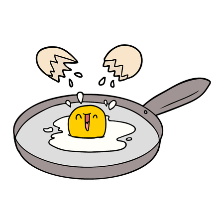 cartoon egg frying Stockfoto - 95217738