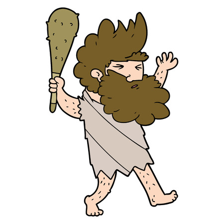 cartoon cave man Stockfoto - 95305791