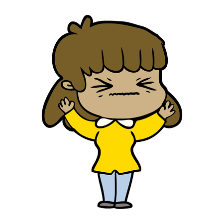 cartoon woman angry