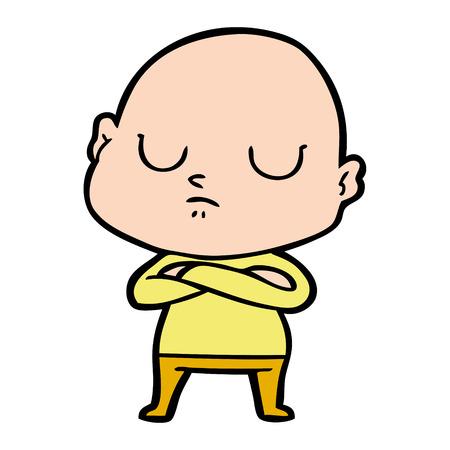 cartoon bald man Foto de archivo - 95239053