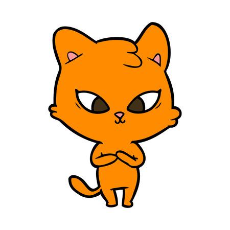 cute cartoon cat Stock Vector - 95239183