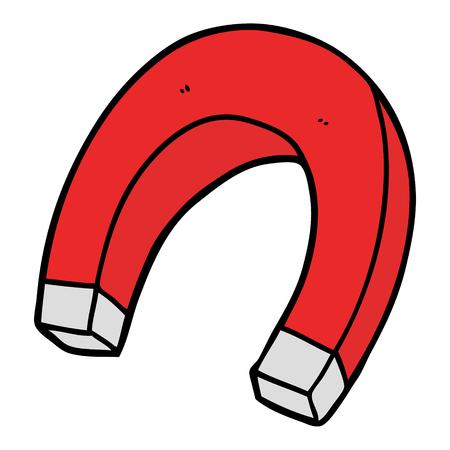 漫画の磁石  イラスト・ベクター素材