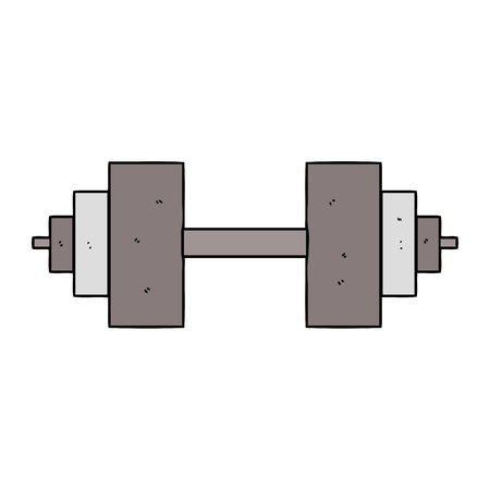 cartoon dumbbell vector illustration.