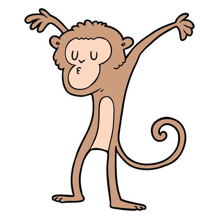 cartoon monkey vector illustration.