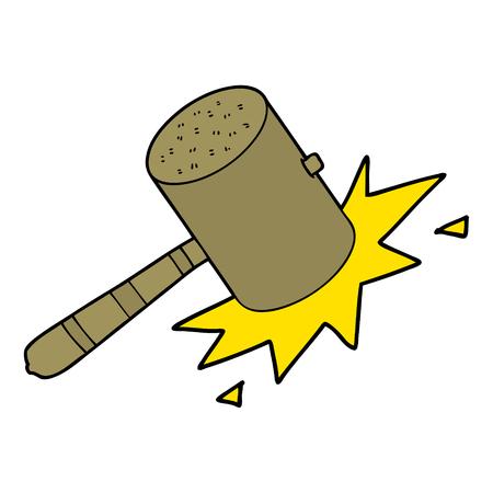 Hand gezeichnete Karikatur hämmern Hammer Standard-Bild - 95320274