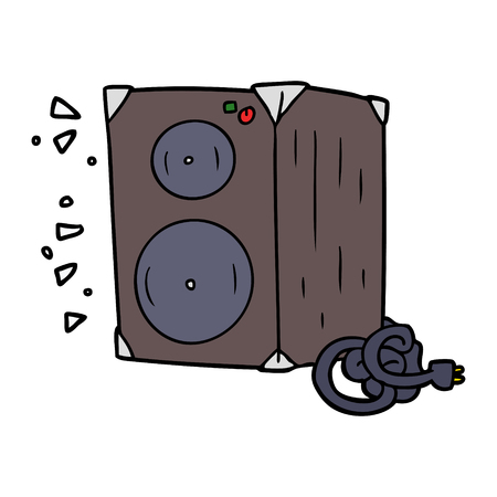 Hand drawn cartoon amplifier Vettoriali