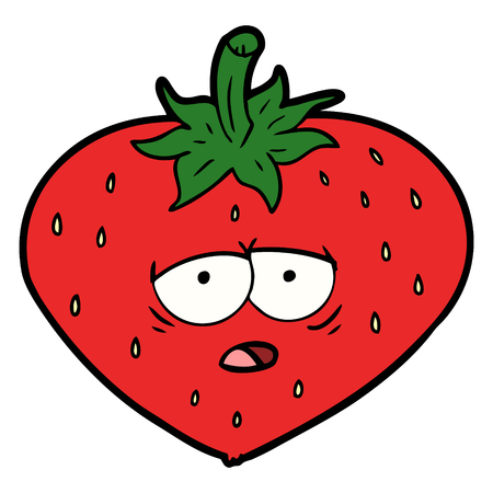 Hand drawn cartoon strawberry Фото со стока - 95323209
