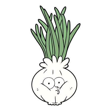 Cartoon pouting onion