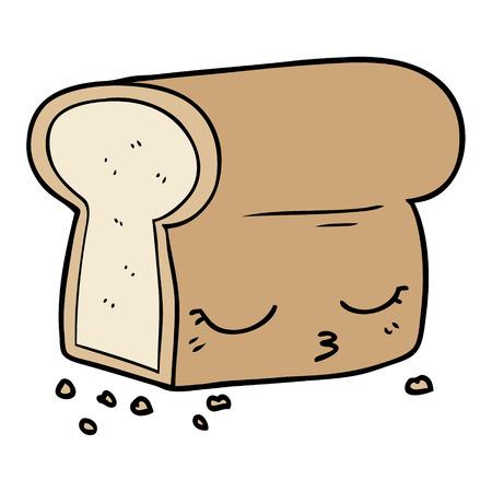 cartoon loaf of bread Ilustrace
