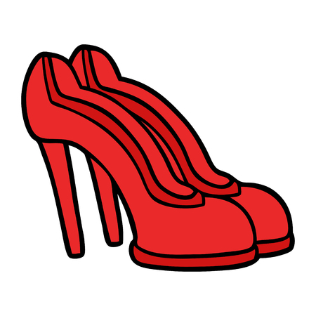 cartoon red shoes Illustration