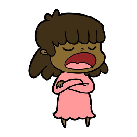 cartoon woman talking loudly