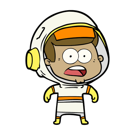 Cartoon surprised astronaut