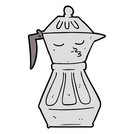cartoon coffee pot