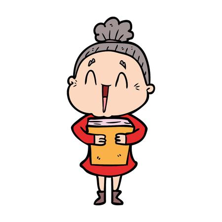 cartoon happy old lady Stock fotó - 95247014