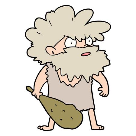 Cartoon cave man Foto de archivo - 95249608