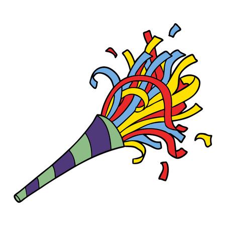 Cartoon party horn Illustration