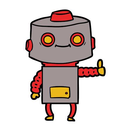 Hand drawn cartoon robot