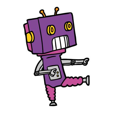 Awesome robot cartoon Illusztráció