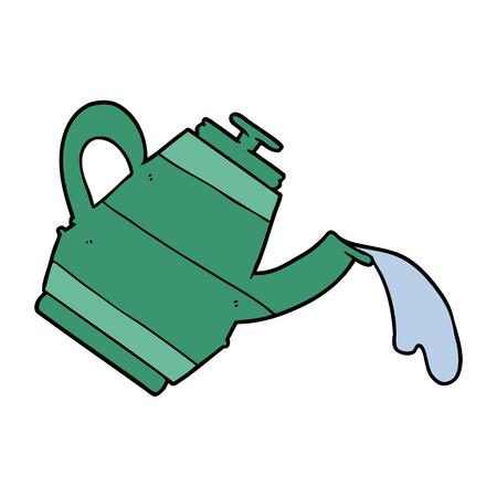 水を注ぐ緑のケトル漫画