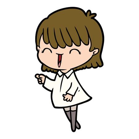 Cartone animato donna radiosa Archivio Fotografico - 95260328